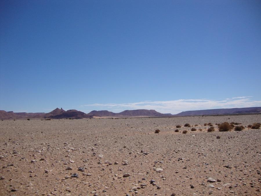 Steinwüste im Süden Marokkos