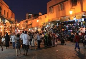 tag1 marrakesch medina am abend