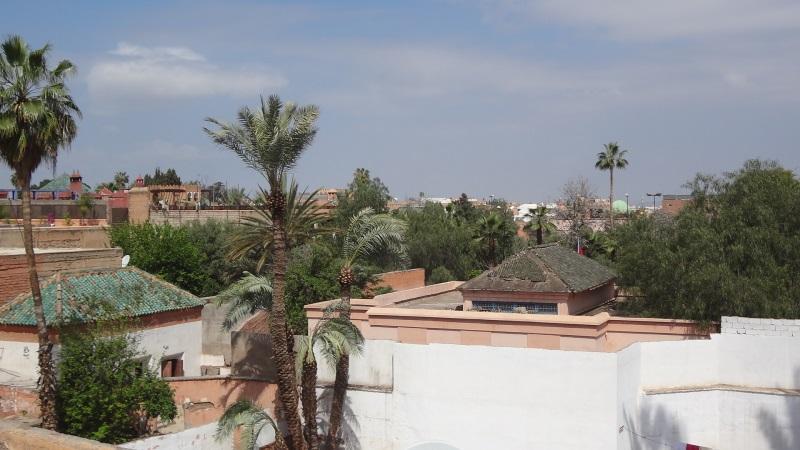 Blick über die Dächer von Marrakesch